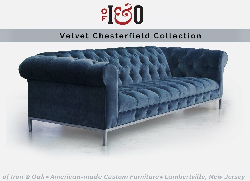Velvet Sofa Chesterfield Collection