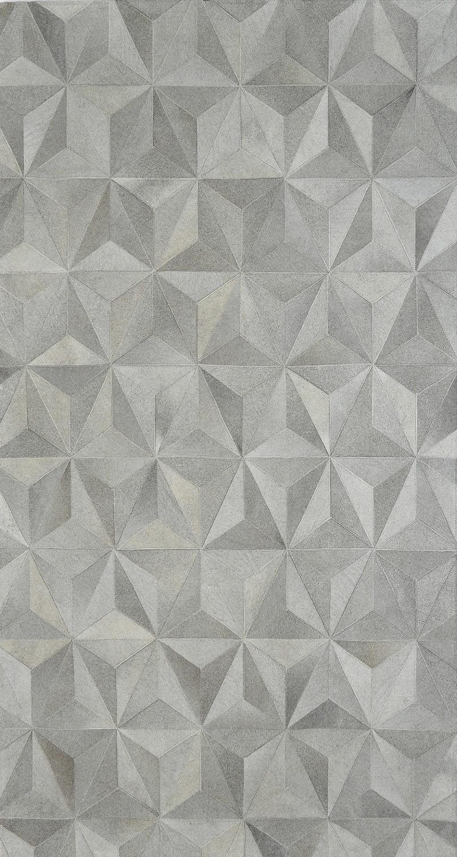 Starcluster Haze 4x6 foot hair-on-hide patchwork rug