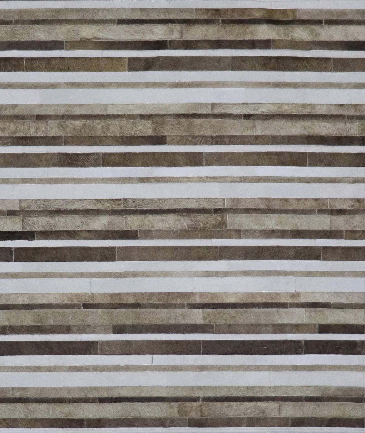 Liner Greyway 8'x10' patchwork hair on hide rug