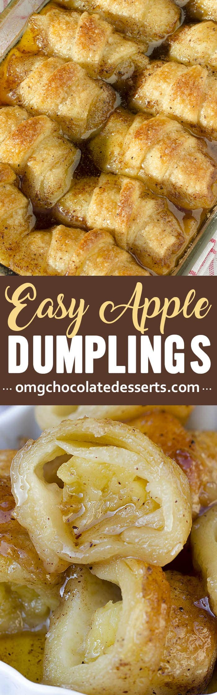 These Easy Country Apple Dumplings are soft and gooey on the bottom, but crispy on top, and they taste like apple pie.