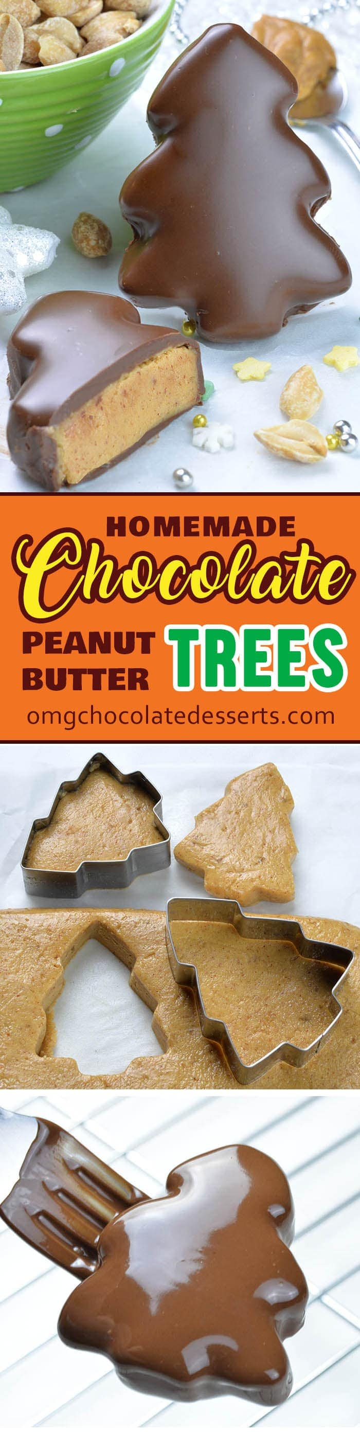 Chocolate Peanut Butter Christmas Trees are your favorite Reese's Peanut Butter Cups disguised in a fun and festive Christmas dessert!