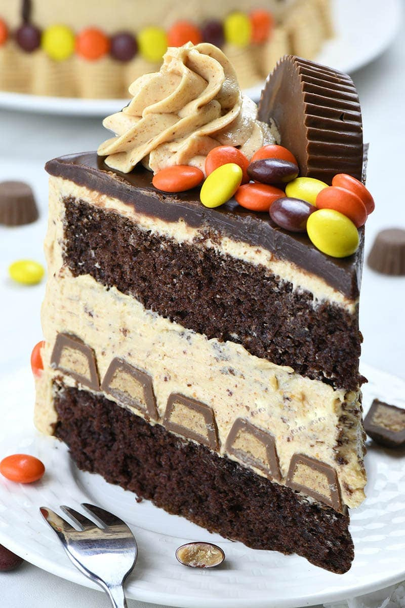 Peanut Butter Chocolate Cake is the ultimate chocolate peanut butter dessert recipe. I couldn't think of anything more perfect for me than an overdose of chocolate and peanut butter.