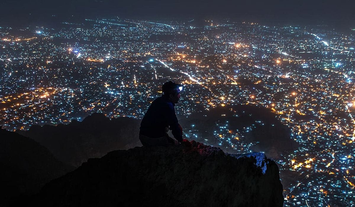 Beautiful Quetta at night