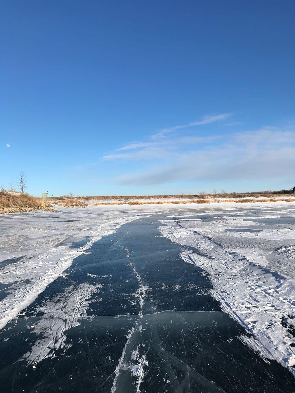 Ice rink on the Lake Minnewasta