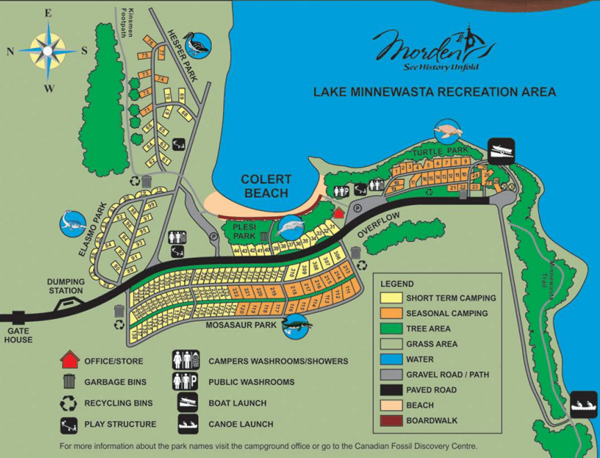 Morden Campground Map