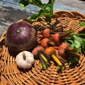 How to cook beetroot relish - basket of vegetables