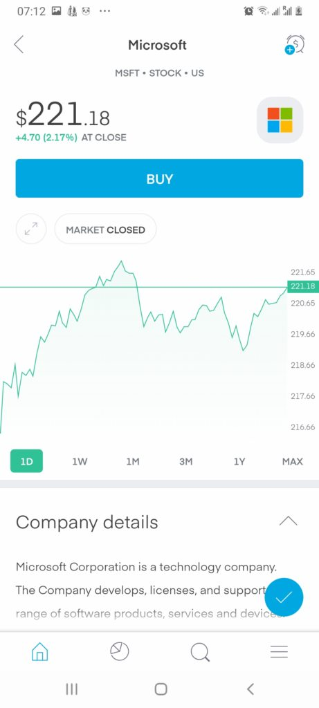 Trading 212 stock trading