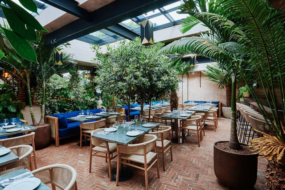 The garden room at Gold in Notting Hill