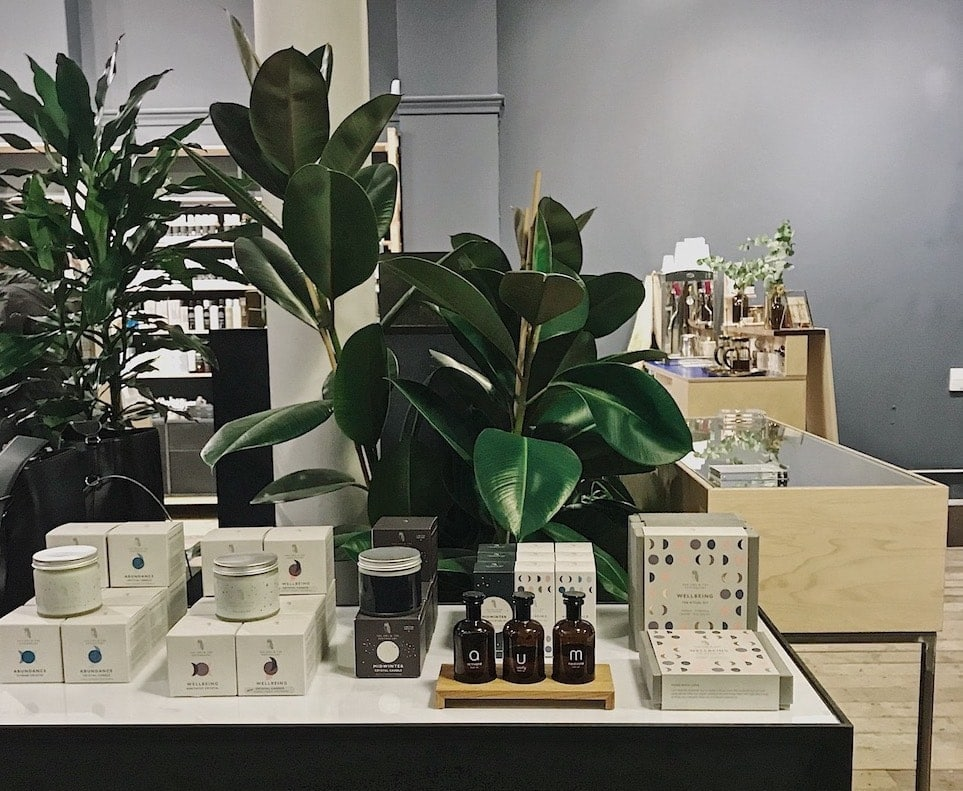 Inside the Content Beauty store in Fitzrovia
