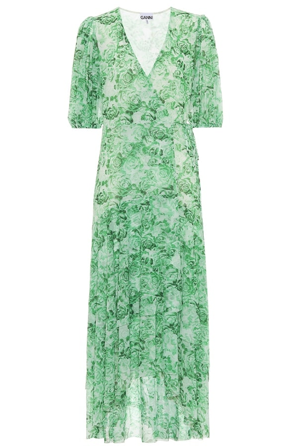 Ganni green dress, as part of The Glossary's best summer dresses edit