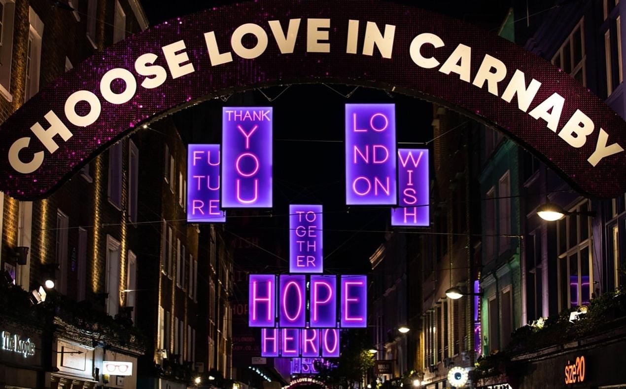carnaby lights choose love