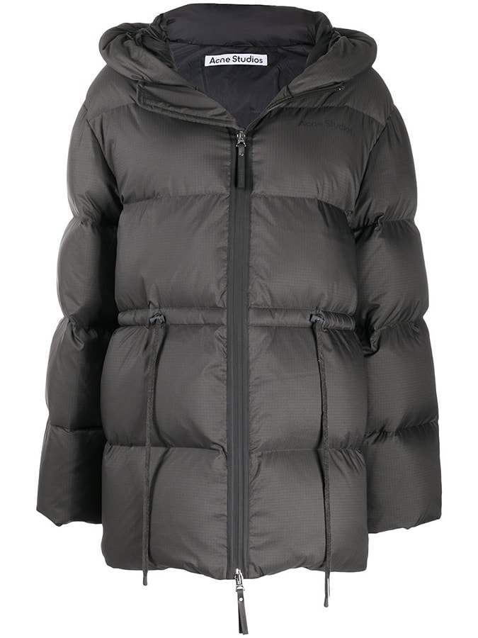 Acne Studios hooded puffer coat 900 FAR