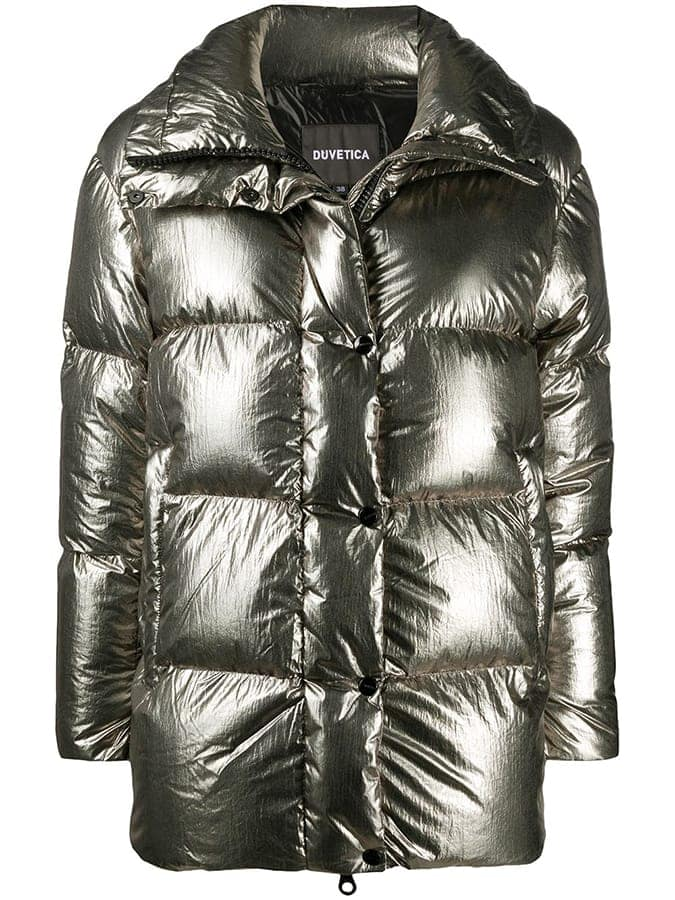 Duvetica metallic puffer coat 80315 Off683 FAR