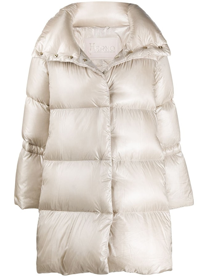 Herno drawstring detail padded coat 590 FAR