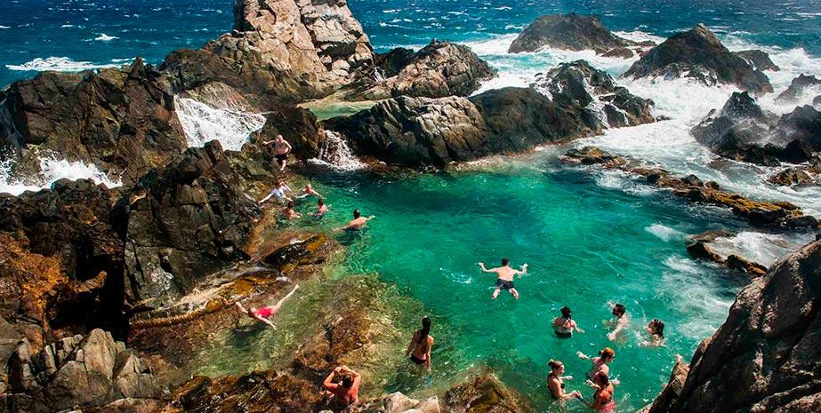 piscina natural de Aruba