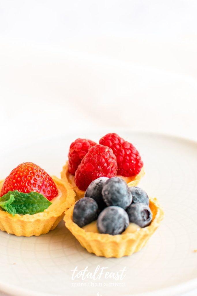 custard fruit tartlets