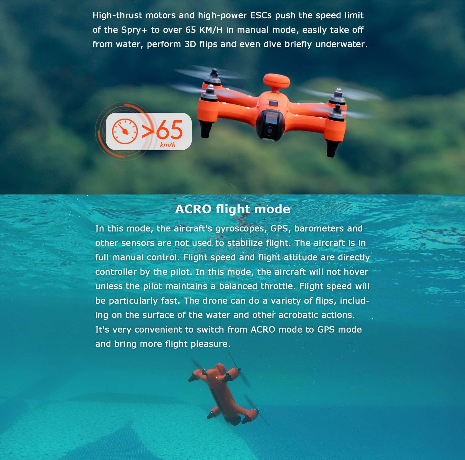 SwellPro - Spry+ ACRO Flight Mode