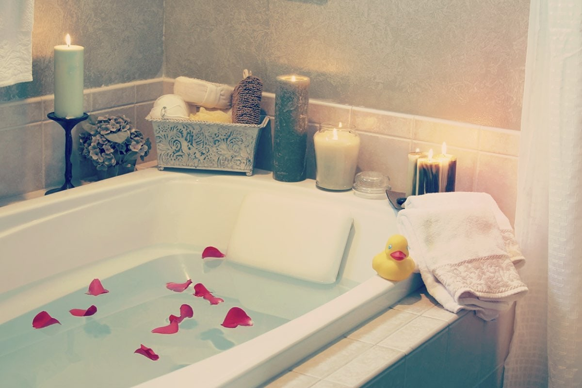 candle lit bath - the joy of missing out