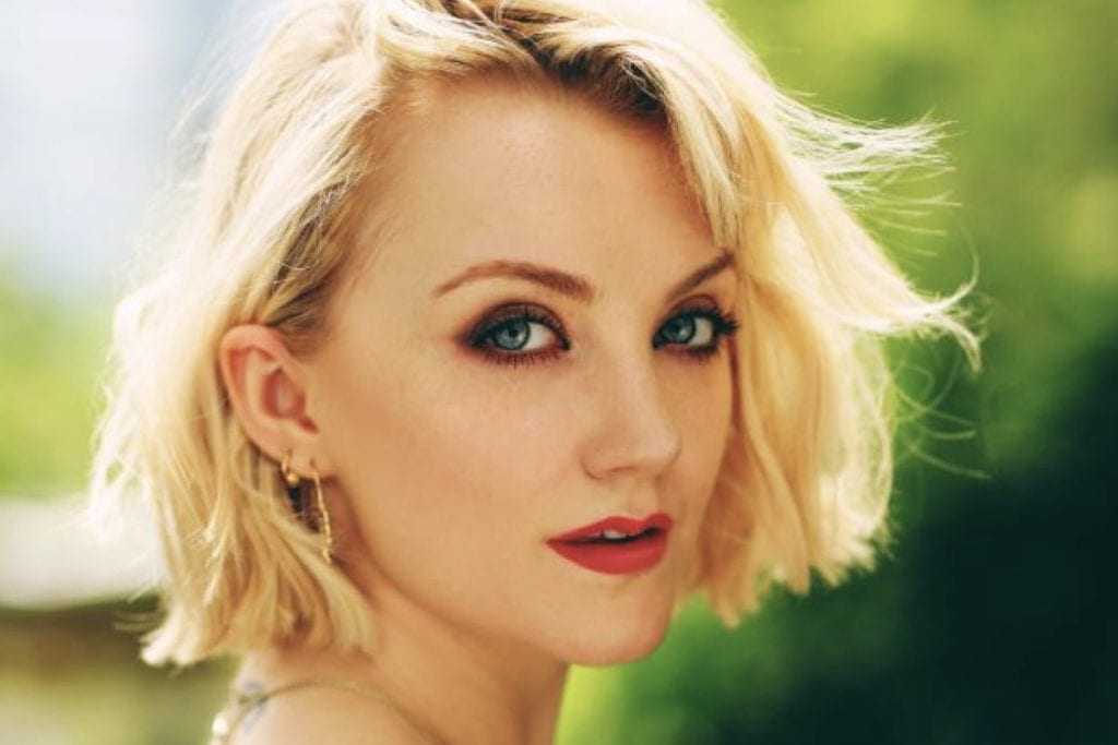 Harry Potter actress Evanna Lynch host of The ChickPeeps podcast