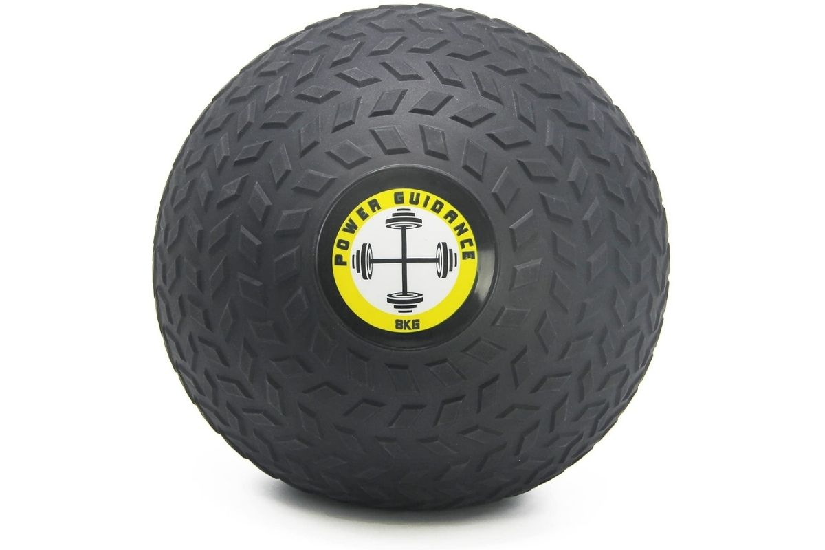 Weighted slam ball for at home HIIT workout