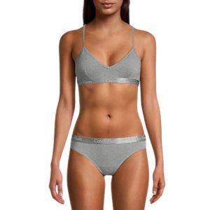 Bralette Mujer Calvin Klein Motive Lightly Lined Grey | Original
