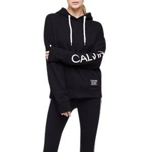 Hoodie Mujer Calvin Klein Performance Logo Oversized Pocket Black | Original