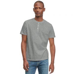 Camiseta Hombre Tommy Hilfiger Essential Henley Grey Heather | Original
