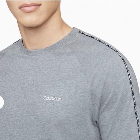 Camiseta Hombre Calvin Klein Athleisure Logo Piping Crewneck T-Shirt Grey  | Original