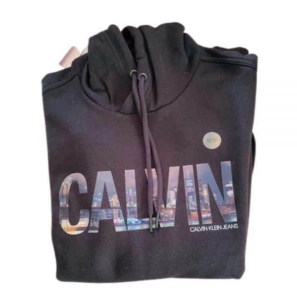 Hoodie Hombre Calvin Klein City Logo Print Black | Original