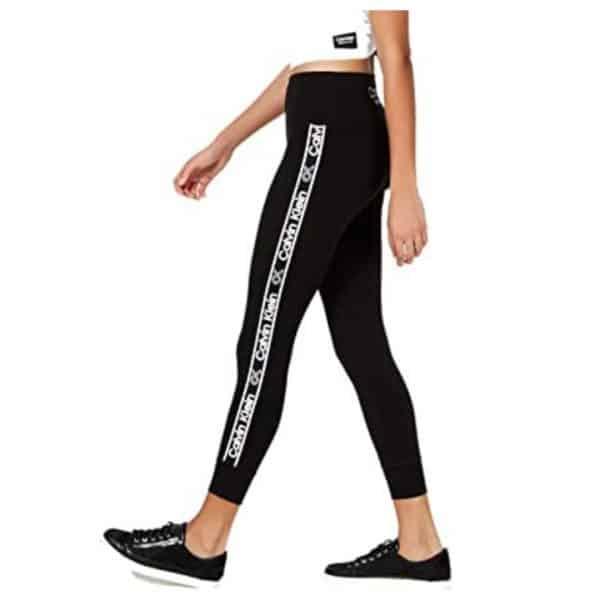 Leggins Mujer Calvin Klein Performance Logo Stripe High Waist 7/8 Black | Original