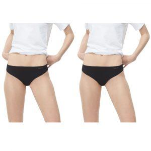 Pack 2 Tangas Mujer Calvin Klein Invisibles Thong Negra | Original