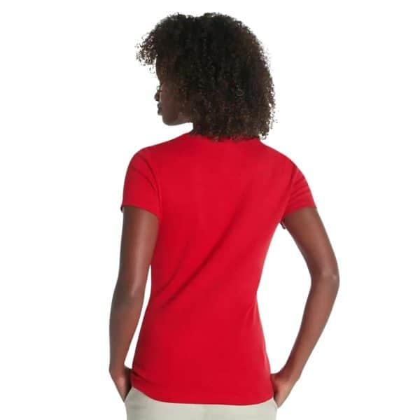 Camiseta Mujer Tommy Hilfiger T-Shirt Essential Split-Neck Red   Original