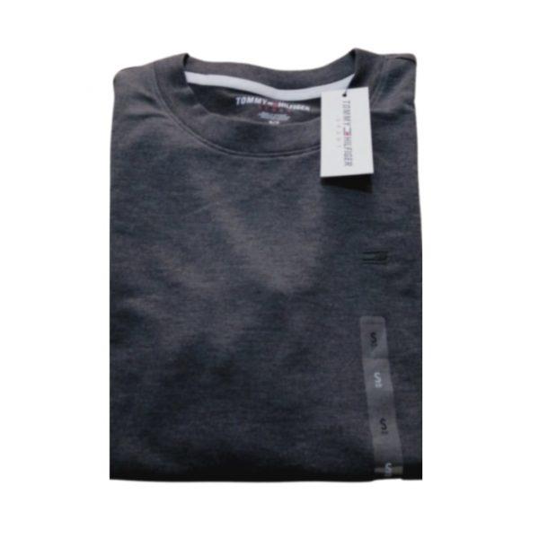 Buzo Mujer Tommy Hilfiger Essential Stripe Cuff Top Grey Light   Original