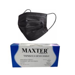 2 Cajas | Lleva 100 paga 50 Tapabocas Quirúrgico Termosellados 3 Capas Negro | Empaque Individual
