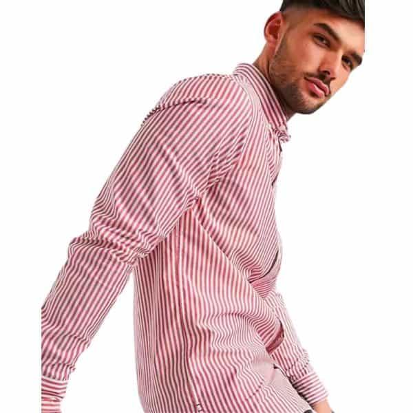 Camisa Hombre Tommy Hilfiger Steel SlimFit Performance Stretch Red | Original