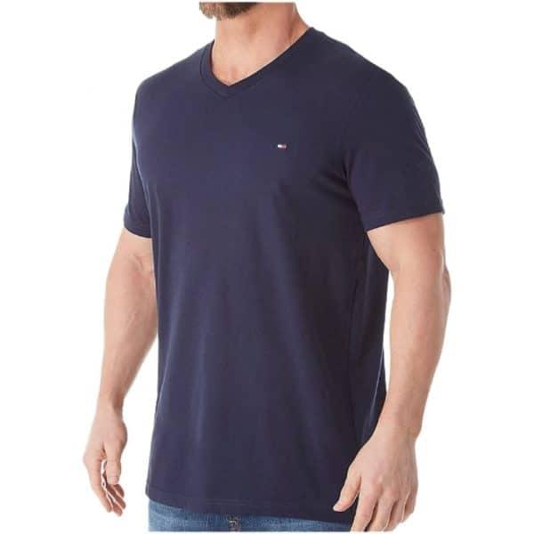 Camiseta Hombre Tommy Hilfiger Cuello en V Dark Blue   Original