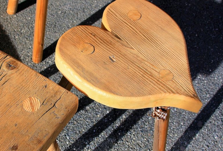 The old wooden stool
