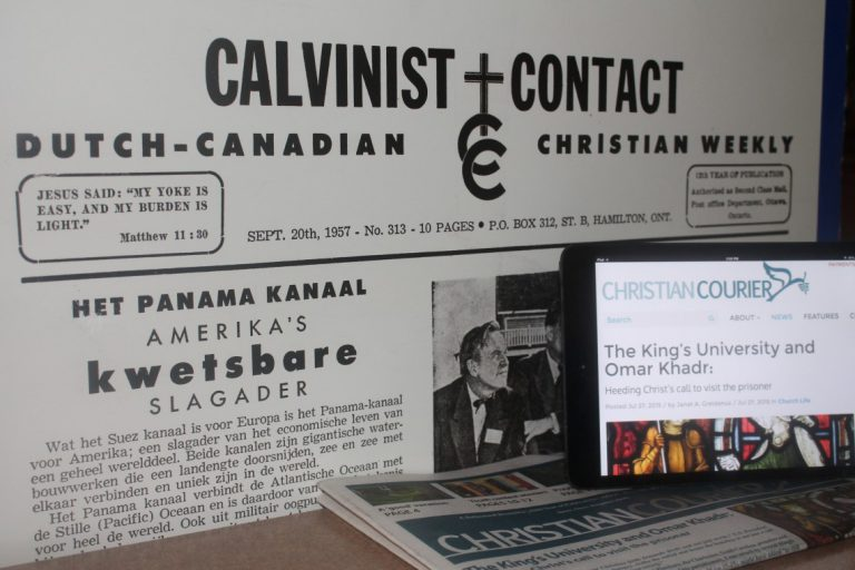 Calvinists in Canada and the Courier