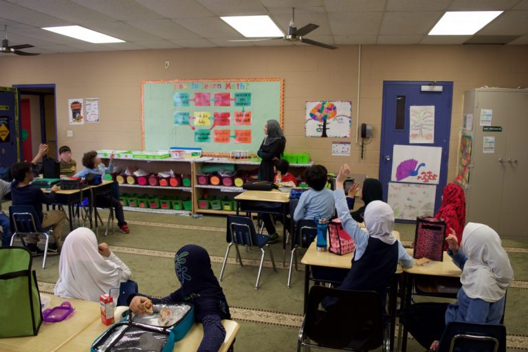 A bridge and window to a Muslim school