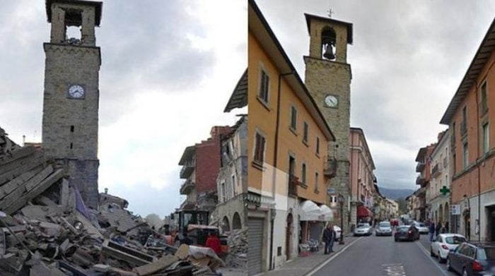 Amatrice Before and After the Earthquake
