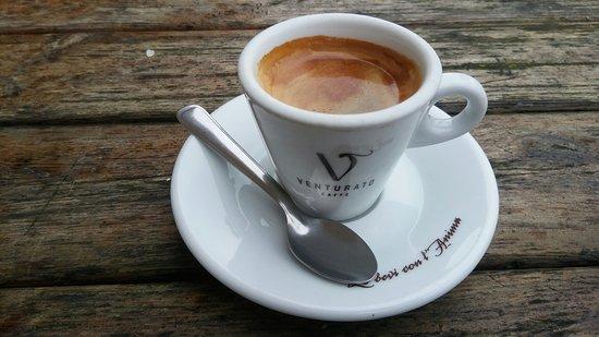 a long espresso in Italy.