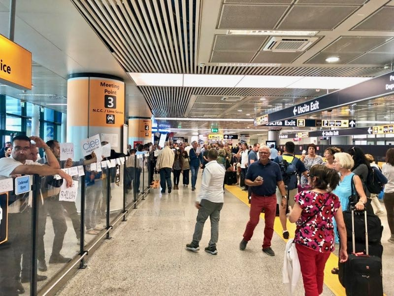 The Welcome Committee at Rome Fiumicino Airport