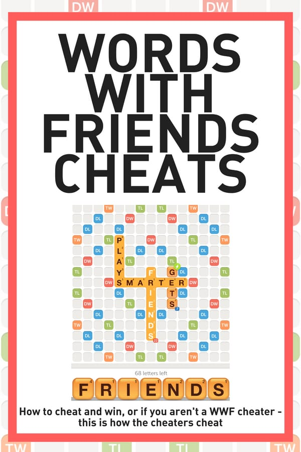 Screenshot of WWF board Words with friends cheats how wwf cheaters cheat
