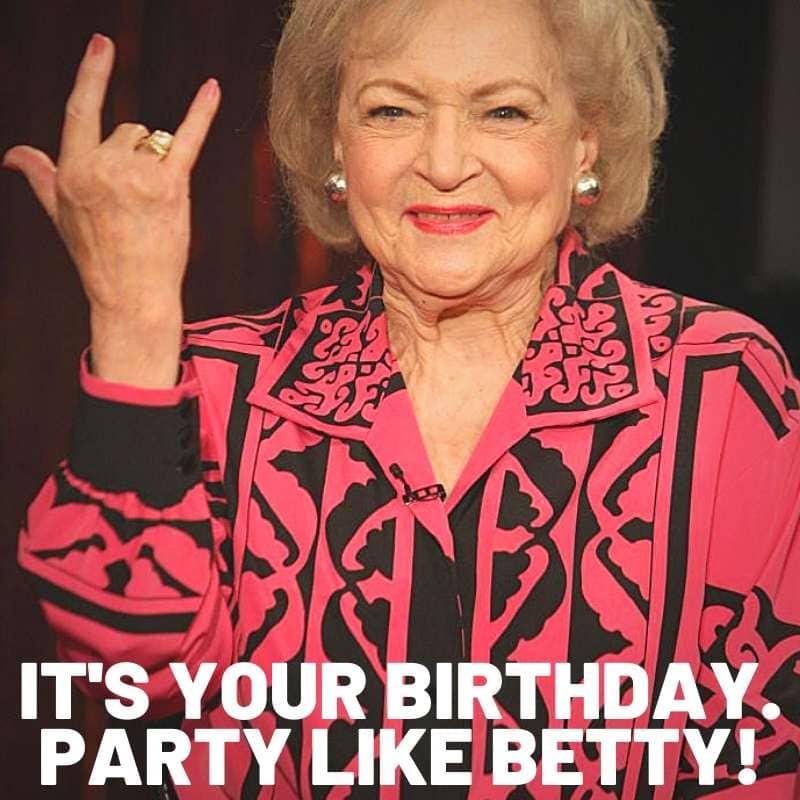 birthday betty white meme