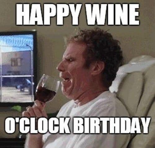 wine o clock birthday meme
