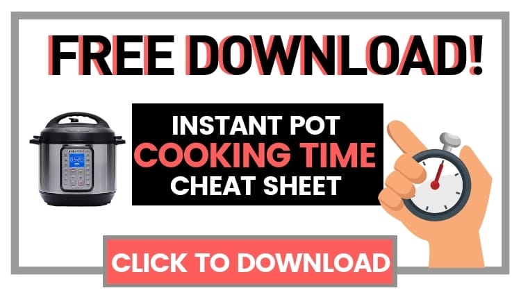 free download instant pot pdf cooking time cheat sheet