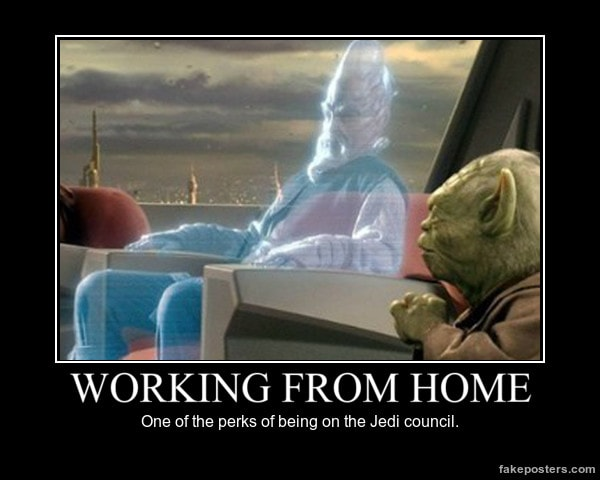 working from home star wars