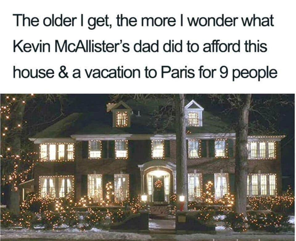 home alone parents meme