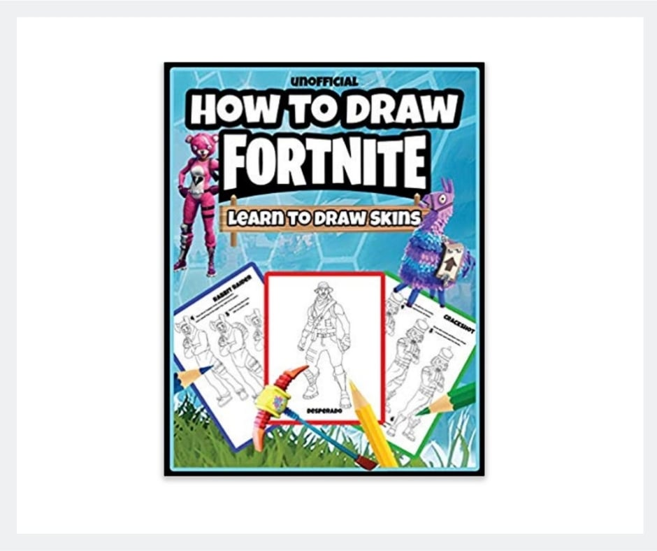 how to draw fortnite skins book