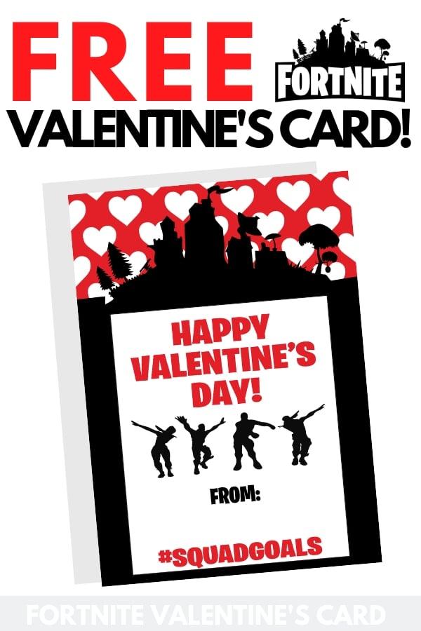 Free Fortnite Valentines Printable Card